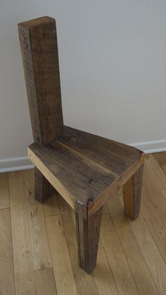 Reclaimed Wood Dinning Chair. Handmade Dinning by TicinoDesign