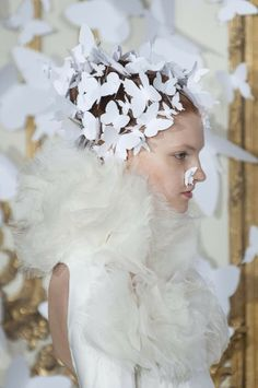 Alexis Mabille | Spring 2014 | Butterfly Hair | Accessories