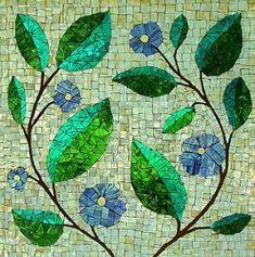 """""""Blue Flowers Mosaic"""" by larchbold Más Más"""