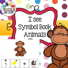 I See Animals Autism Symbol Book  A great sentence building activity which comes complete with symbols.   21 different animals included. The symbols come on a separate page. I recommend laminating the pages with empty boxes and pictures on then binding into a book. Cut out the symbol boxes individually and laminate. You can either have these spread out on a board/table for students to choose from or stick them muddled up on the back of the page in front for students to choose from.  Brilliant fo