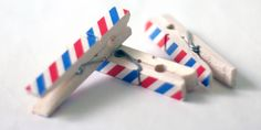 Washi tape covered wooden pegs {HappyHandsProject}