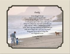 Personalized Gift for Dad From Son Keepsake and Remembrance | Creationsbyfrannie - Print on ArtFire @Frances Celi