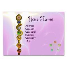 Rod Of Asclepius 7 Chakras Yoga Spiritual Energy Business Card