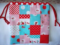Patchwork bag for children 100 cotton fabric by BabyBlueSheepCo, $27.00