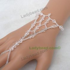 Finger Bracelet Crystal Jewelry USA Item#HJ137