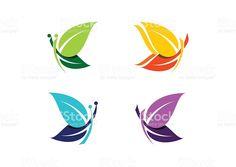 Mariposa logotipo abstracto de hermosas mariposas símbolo icono de vector de diseño illustracion libre de derechos libre de derechos