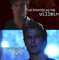 He started as the villain and ended as the hero.