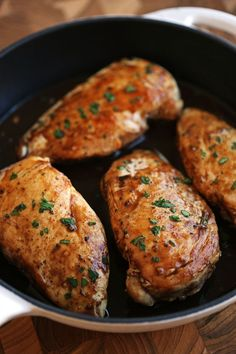 Delicious easy-to-make chicken breasts are marinated in a simple maple balsamic glaze and seasoned with fresh herbs and spices