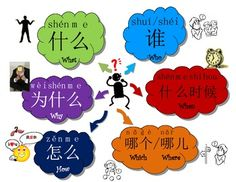 Chinese question words poster                                                                                                                                                                                 More