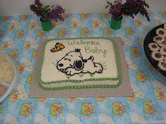 snoopy baby shower cake | Baby stuff | Pinterest