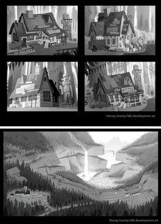 Artes do desenho animado Gravity Falls, da Disney   THECAB - The Concept Art Blog