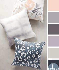 The dusty rose color trend is still going strong this year and is expected to stick around for Pantone has a version of this hue in their Spring 201 Purple Color Schemes, Purple Color Palettes, Purple Master Bedroom, Bedroom Colors, Paint Colors For Home, House Colors, Lilac Bathroom, Ashley Home, Lilac Grey