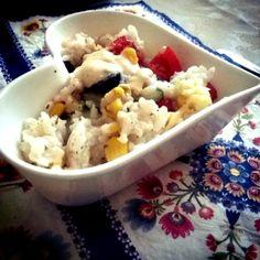 Black and Pink: Czas zajrzeć do kuchni - sałatka ryżowa