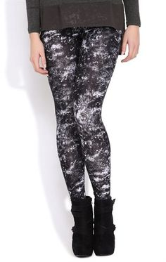 Deb Shops Tie Dye Acid Wash Print #Legging $14.90