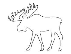 Moose pattern. Use the printable outline for crafts, creating stencils, scrapbooking, and more. Free PDF template to download and print at http://patternuniverse.com/download/moose-pattern/