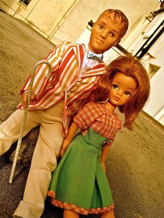 Vintage Sindy and Paul British Dolls by Pedigree