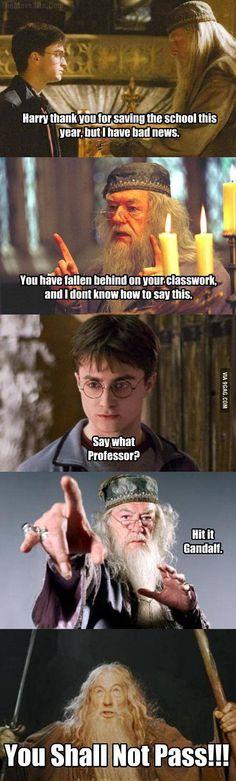 Hit it Gandalf! #parody #crossover #9Gag #funny #humor