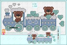 "Delicate Corner: Charts Cross Stitch ""Trenzinho with Bears"""