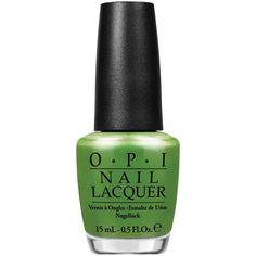 Opi Nail Laquer My Gecko Does Tricks (37 BGN) ❤ liked on Polyvore featuring beauty products, nail care, nail polish, nails, beauty, green, womens-fashion, opi, opi nail color and green nail polish