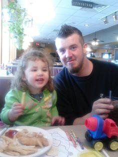 Sean and Shyann sharing lunch