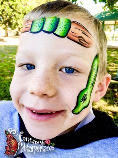 Tree snake face paint