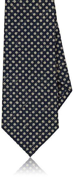 Mens Dot-Pattern Silk-Cashmere Necktie Isaia PpaUcawG