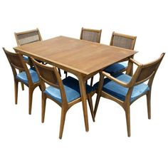 Van Koert For Drexel Dining Table And 6 Chairs | From a unique collection of antique and modern dining room sets at https://www.1stdibs.com/furniture/tables/dining-room-sets/