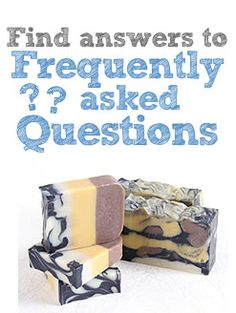 Frequently Asked Questions:  Pricing Your Cold Process Soaps (this is not the selling price, just what you use to average your cost to make)