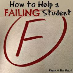 9 Ways to Help Failing Students   Teach 4 the Heart