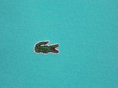 #LACOSTE Teal Polo Shirt 40 (8) Medium Short Sleeve EUC Gator Logo Summer #ebay