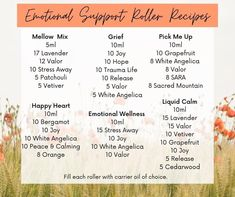 Essential oils are a great way to support all the emotions.  Here are some great blends.