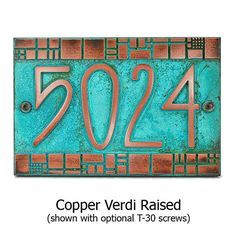 Batchelder Tile Craftsman Address Plaque Numbers W x H by Atlas Signs and Plaques Craftsman Tile, Craftsman Furniture, Craftsman Exterior, Craftsman Style Homes, Craftsman Bungalows, Craftsman Decor, Modern Exterior, House Number Plates, House Numbers