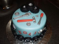 ideas about Mechanic Cake Birthday Cakes For Men, Cakes For Boys, Cupcakes, Cupcake Cakes, Mechanic Cake, Auto Mechanic, Tire Cake, Dad Cake, 21st Cake