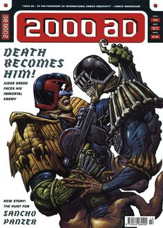 CLASSIC COVER: Judge Death by Paolo Parente for 2000 AD Prog 1114 (7th October, 1998)