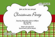 Christmas Party Invitations CHOOSE YOUR COLORS AND PATTERNS - Get these cards RIGHT NOW. Design yourself online, download and print IMMEDIATELY! Or choose my printing services. No software download is required. Free to try!