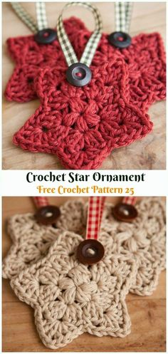 DIY Crochet Christmas Ornament Free Patterns Star Ornament Crochet Free Pattern - DIY Free Patterns Always wanted to discover how to. Crochet Tree, Crochet Diy, Crochet Stars, Crocheted Lace, Crochet Doilies, Crochet Flowers, Crochet Christmas Decorations, Crochet Christmas Ornaments, Christmas Tree Knitting Pattern