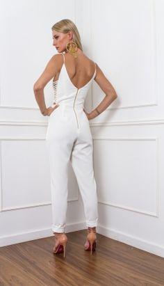 MACACÃO CREPE DETALHE LATERAL - MAC28169-99 | Skazi, Moda feminina, roupa casual, vestidos, saias, mulher moderna