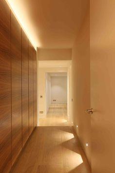 Hallway Lighting Design by John Cullen Lighting House Design, Interior Lighting, Hallway Flooring, Ceiling Design, Hallway Lighting, Light Architecture, Corridor Design, Floor Lights, Corridor Lighting