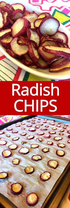 Healthy Baked Snacks, Keto Snacks, Healthy Baking, Low Carb Recipes, Real Food Recipes, Baking Recipes, Baking Desserts, Radish Chips, Vegetable Cake