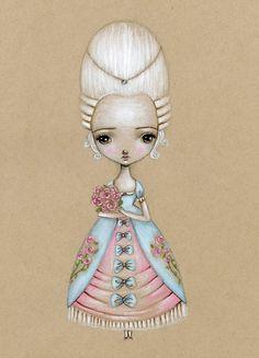 Fine Art Print-Petite Marie Antoinette