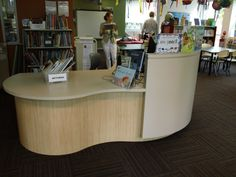 Curved circulation desk highfield