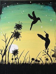 Hummingbirds at twilight by Morgan McLaren