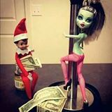 When You Leave Your Husband In Charge Of Elf On The Shelf...