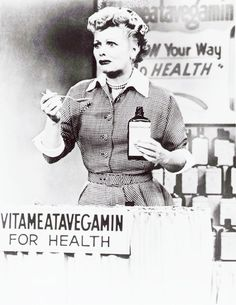 """""""The answer to all your problems is in this little bottle,.."""" """"Vita-vata-meate-mac!"""""""