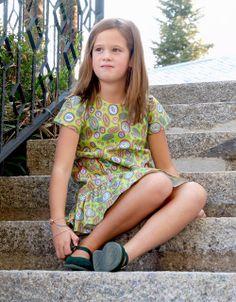 Vestido Sencillo, estampado Círculos - La Princesa de Condor en Erizzos Marketplace de tiendas para niños de 0 a 14 años