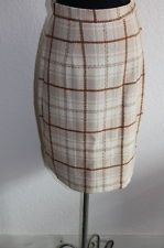 COOL VINTAGE STORE ON EBAY  - Best Offer - Vintage 1960's mad men tan plaid office pencil skirt - size S