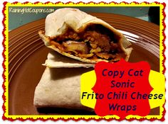 Copy Cat Sonic Frito Chili Cheese Wraps  http://www.raininghotcoupons.com/copy-cat-sonic-fritos-chili-cheese-wraps/