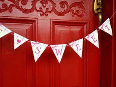 Valentine Banner Garland Decoration  Be Sweet