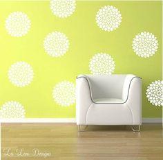 Bedroom wall decal Idea flowers
