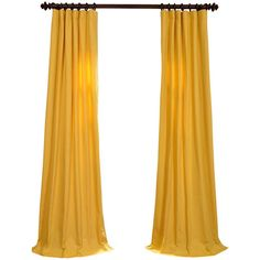 Mustard Yellow Cotton Twill Curtain ❤ liked on Polyvore featuring home, home decor, window treatments, curtains, window, curtain, curtains & drapes, decor, tab window curtains and mustard curtains